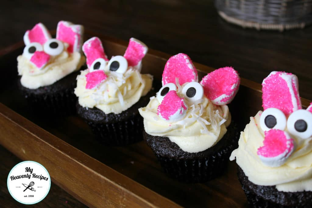 Easy Bunny Cupcakes Zoomed