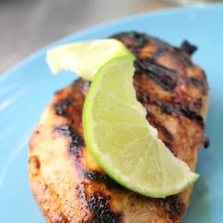 Grilled honey chicken breast feature