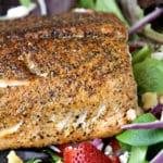 Strawberry Fields Salmon Salad Recipe + Video