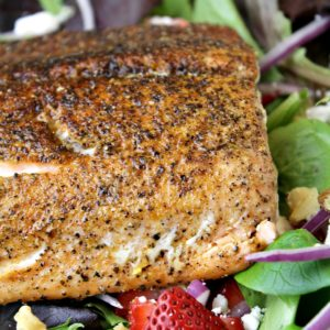 Strawberry Fields Salmon Salad Recipe + Video