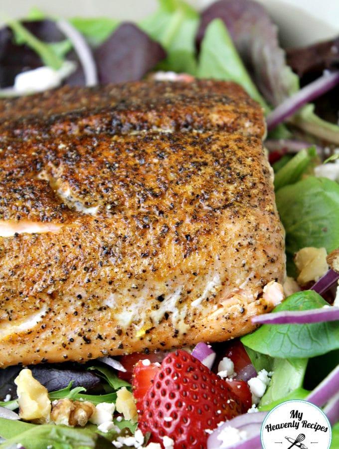 Strawberry Fields Salmon Salad Feature