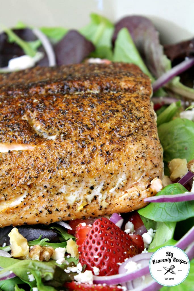 Strawberry Fields Salmon Salad recipe image