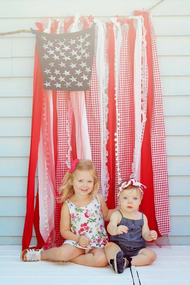 American Flag Backdrop from Laughing Latte
