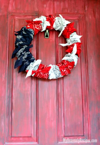 Done in under 10 minutes, you'll be the envy of your friends with this American Flag Bandana Wreath