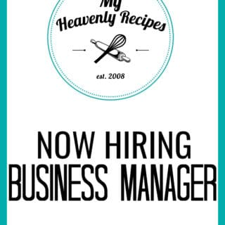 MyHeavenlyRecipes.com Seeks Business Manager