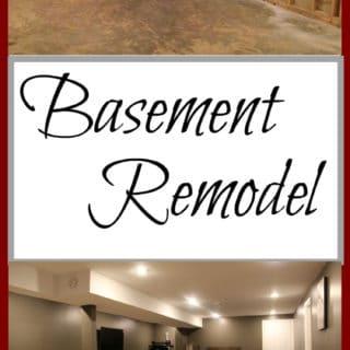 Our Year Long DIY Basement Remodel