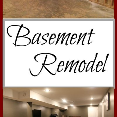 basement remodel before gutted and after finished staged with furniture