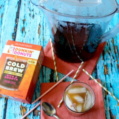 Dunkin Donuts Cold Brew Coffee in a Pitcher