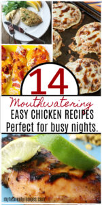 Try these easy chicken recipes the next time you have a jam packed schedule.