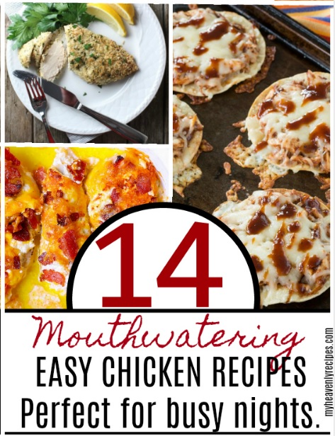 These 14 Mouthwatering Easy Chicken Recipes are perfect for busy nights.