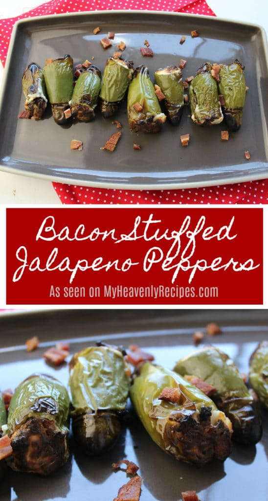 These Bacon Stuffed Jalapeno Peppers are a great appetizer recipe to try at your next party!