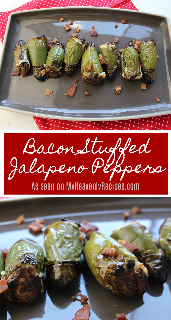 Need a new appetizer recipe to try? These Cream Cheese Stuffed Jalapeno Peppers with Bacon are a great option for appearing at your next party! Make ahead of time and grill as your guests arrive! #appetizer #Partyfood #easyrecipe