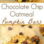 chocolate chip oatmeal pumpkin pie bars