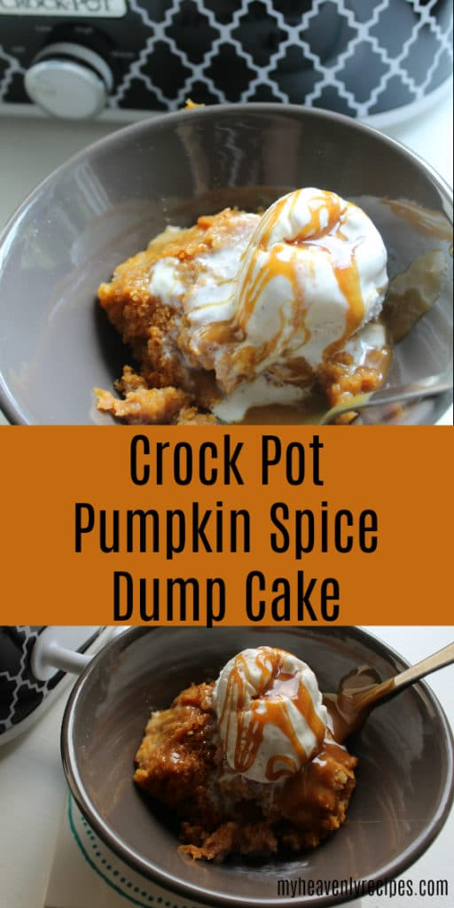 A heavenly tasting dessert recipe straight out of the Crock Pot. This Crock Pot Pumpkin Spice Dump Cake will have your home smelling amazing!