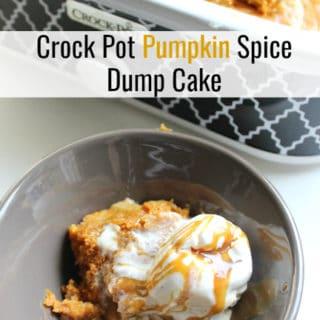 Crock Pot Pumpkin Spice Dump Cake