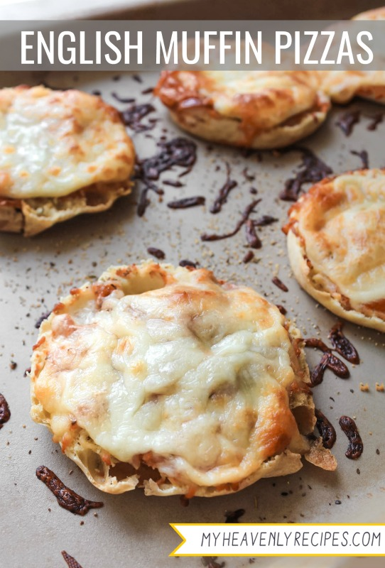 English Muffin Pizzas are the perfect lunch for school days!