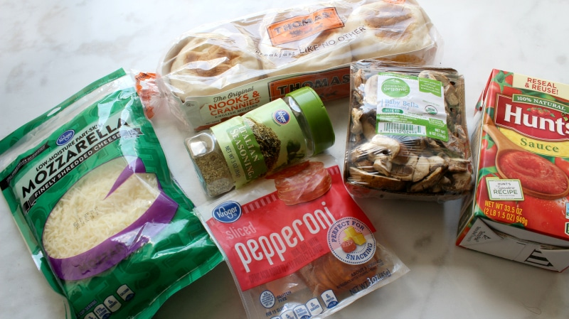 English Muffin Pizzas Ingredients - super simple, super easy!