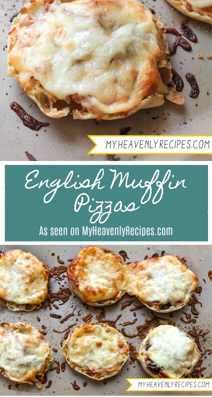 Let the kids get involved in making their own English Muffin Pizzas. They are perfect for school lunches, weekend picnics and even dinner!