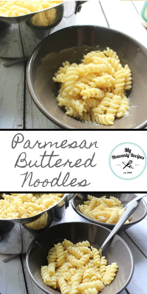 Parmesan Buttered Noodles are a comfort food classic our family has been eating for years!