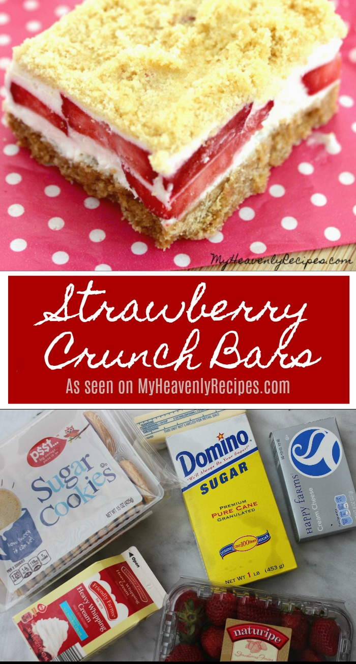 Strawberry Crunch Bars are a perfect dessert recipe to get the kids involved with making!