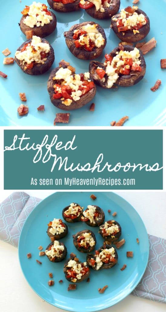 Stuffed Mushrooms are a great appetizer for entertaining your guests. Everyone loves finger food!