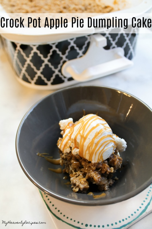 Crock Pot Apple Pie Dumpling Cake Video My Heavenly Recipes