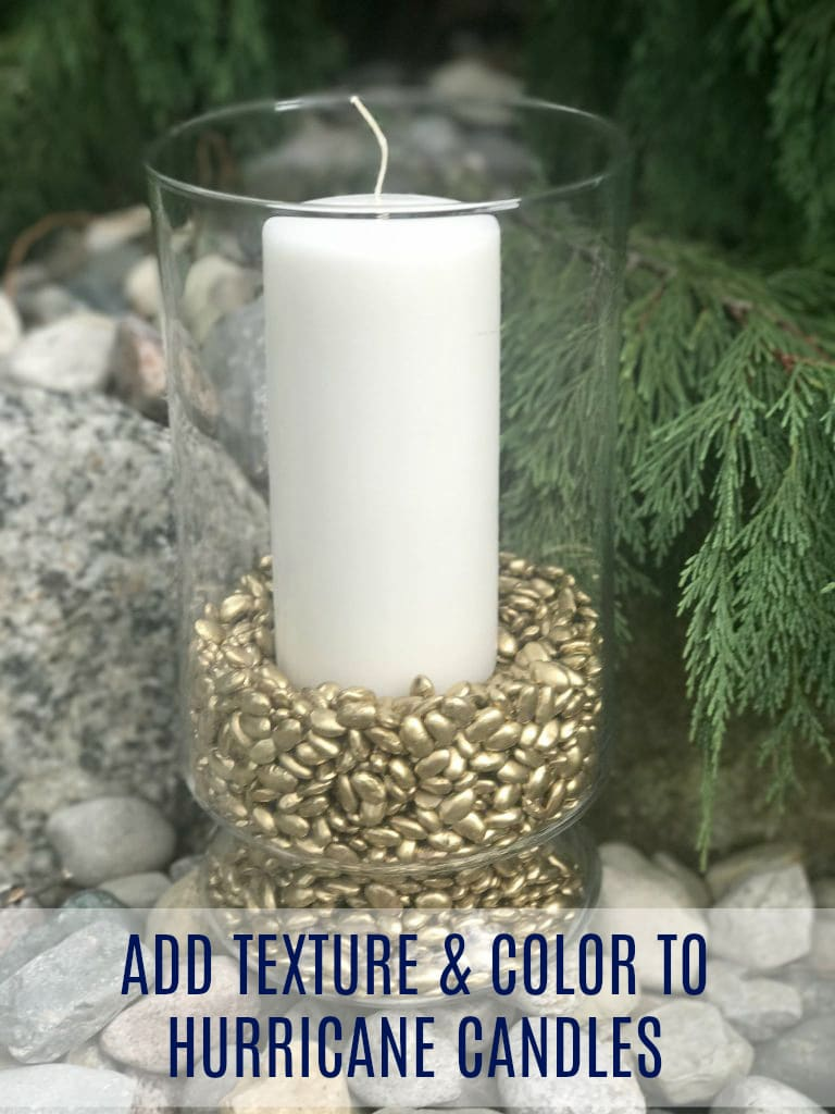 Update the look of your Hurricane Candles with spray paint!