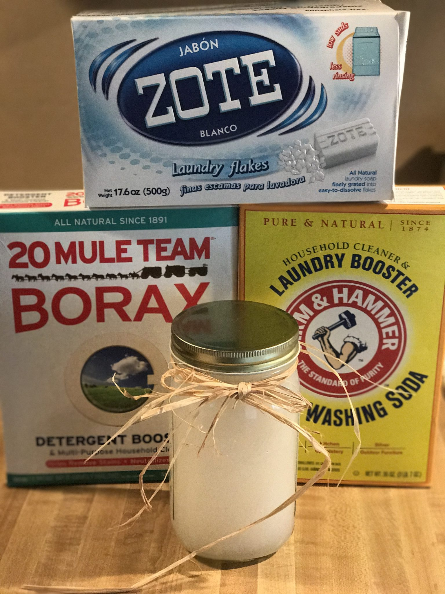 Know just whats in your clothing when you make your own Homemade Laundry Detergent.