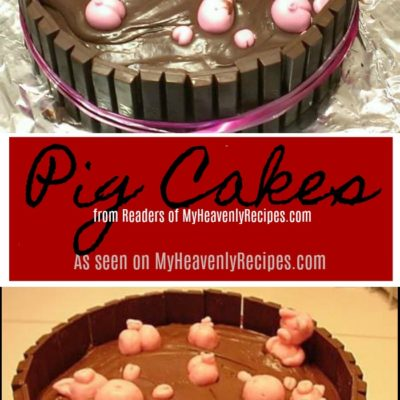 These Pig Cakes from the Readers of MyHeavenlyRecipes.com are adorable!
