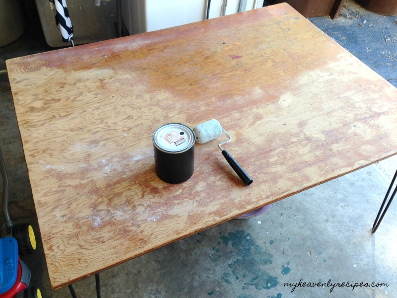 The Playroom Table got a fresh coat of paint before it got it's transformation.