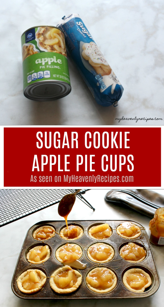 Not a baker? No worries! These Sugar Cookie Apple Pie Cups are SUPER simple and make a great dessert recipe that the entire family can make together.