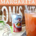 patron, orange blood sanpellegrino and glass with margarita