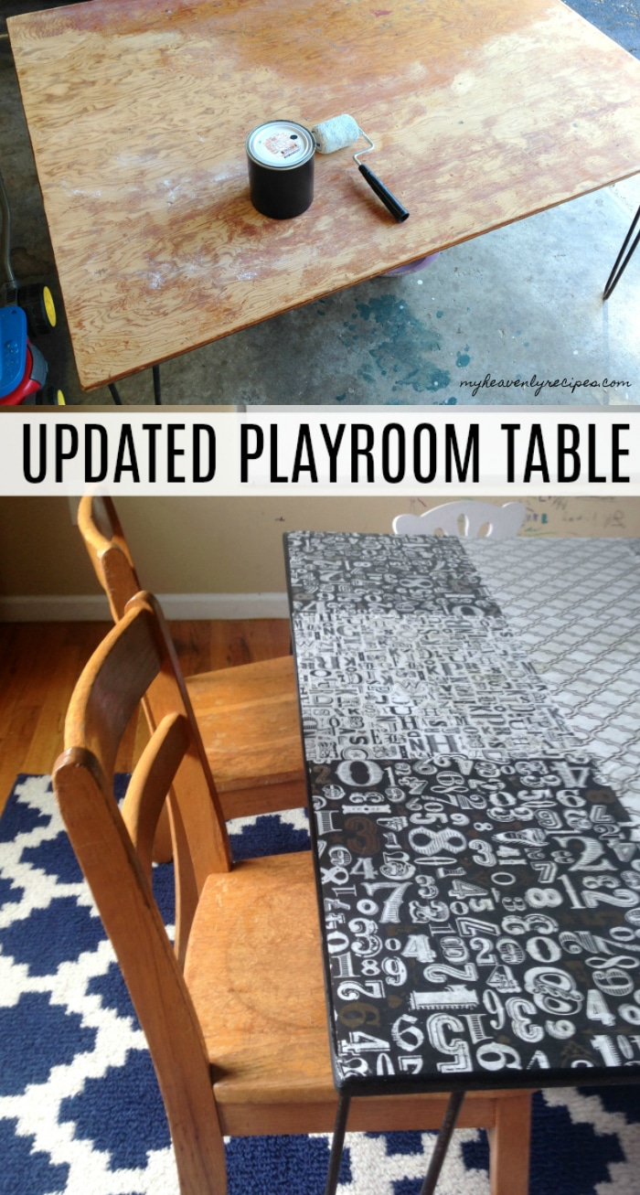 This was a crazy DIY idea that I had and I'm so glad that I implemented. This Play Room table is so FUN for the kids!
