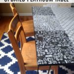 Decoupage Play Room Table