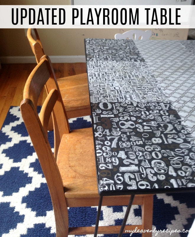 A Playroom Table Makeover that was quick, easy and has beautiful results!
