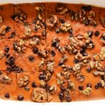 A heavenly dessert to enjoy with your family and friends this fall, Chocolate Chip Pumpkin Pie Bars.