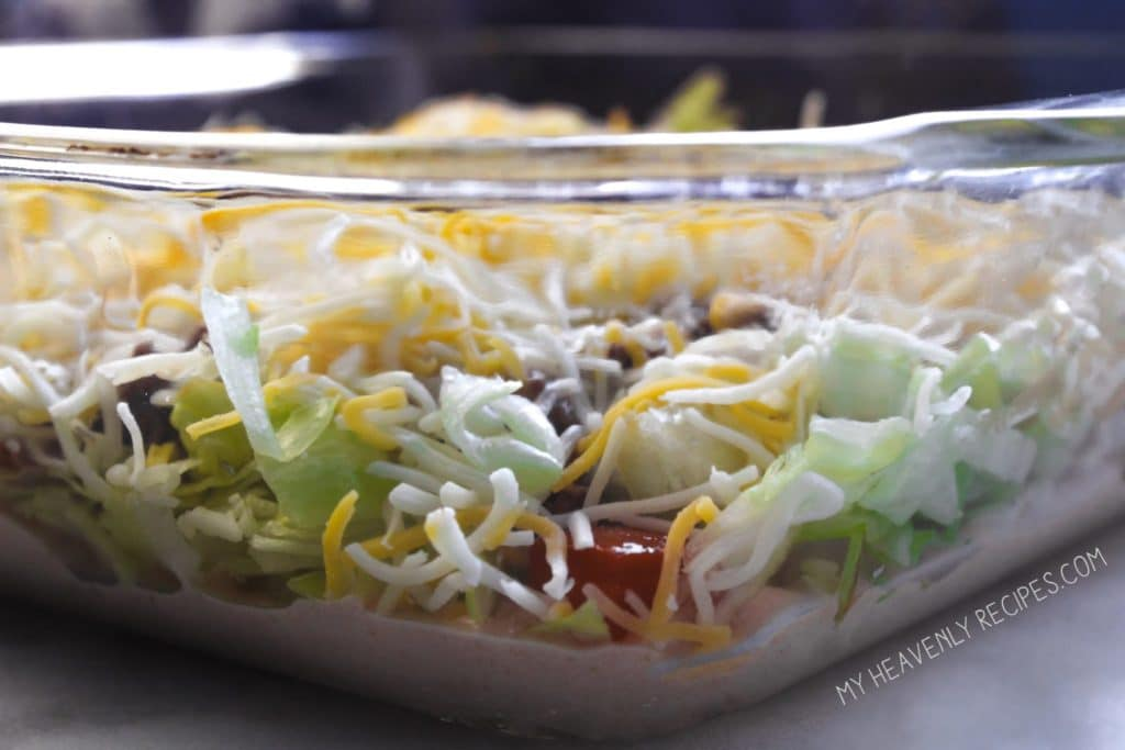 Taco Salad Dip is so quick and easy! It'll become your new favorite appetizer recipe!