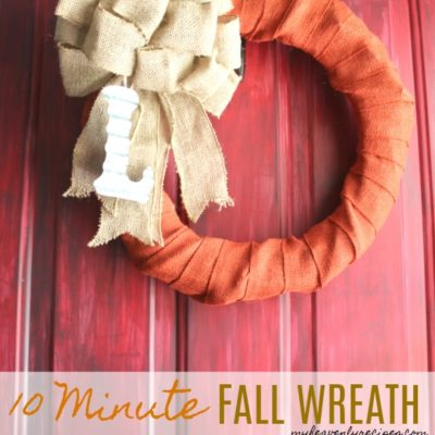 Take your wreath from summer to fall in just 10 minutes with 3 simple supplies!