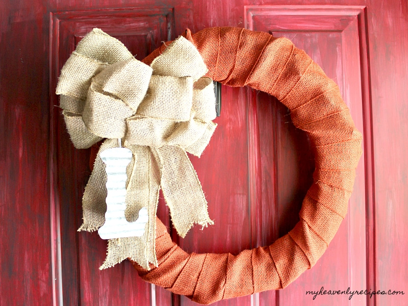 A quick and easy way to create a Fall Wreath! You don't even need to be crafty!