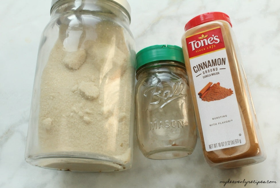 Cinnamon Sugar Ingredients are super simple and a staple in every kitchen.