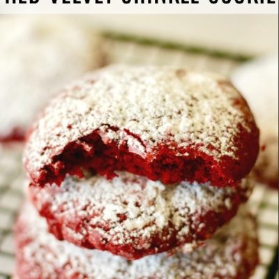 red velvet crinkle cookie feature image