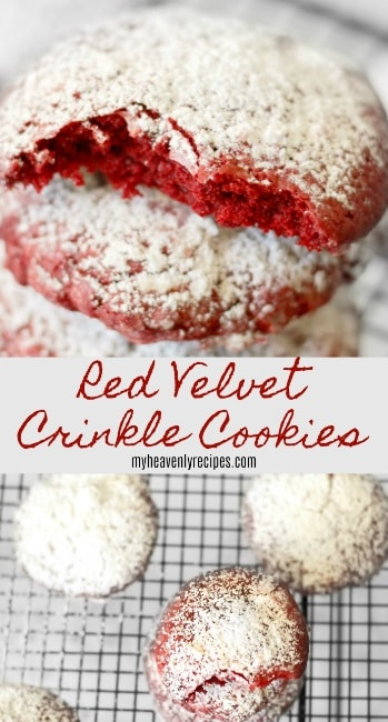 Red Velvet Crinkle Cookies are the perfect treat to share with family or friends! They are just so pretty not to share!