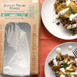 Stuffed Poblano Peppers with Black Beans and Quinoa + Video