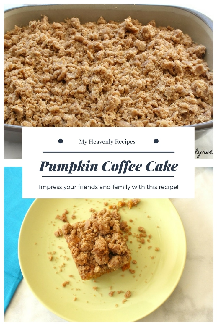 Satisfy your pumpkin craving with this easy Pumpkin Coffee Cake!
