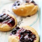 This Blueberry Cream Cheese Danish recipe takes about 5 minutes to put together. You'll be enjoying a warm from the oven breakfast in under 30 minutes.