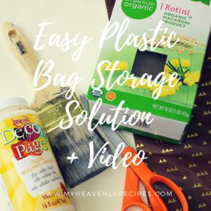 Plastic Bag Holder | Easy Storage Solution + Video