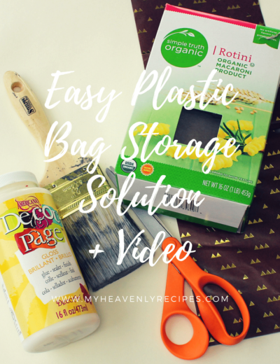 Easy Plastic Bag Storage Solution + Video