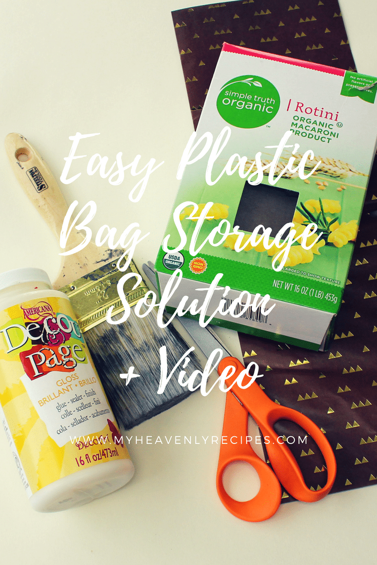 Plastic Bag Holder Easy Storage Solution Video My Heavenly Recipes
