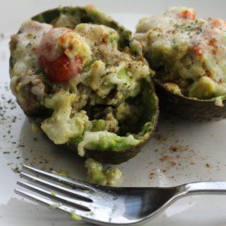 Scrambled Egg & Sausage Stuffed Avocado