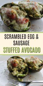 stuffed avocado recipe pin